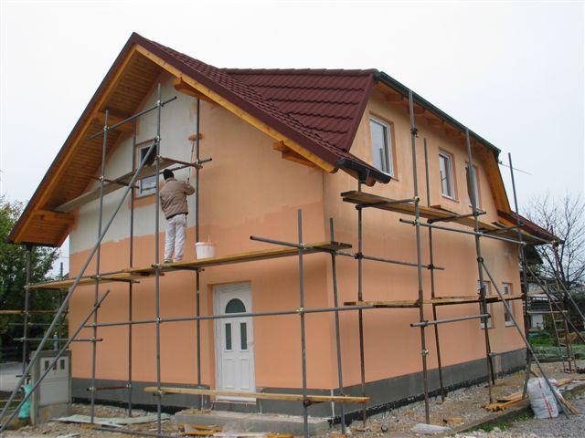 Izdelava fasade objekta z Rofix silikatnim zaključnim ometom