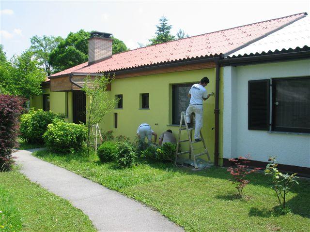 Izdelava fasade objekta Caparol