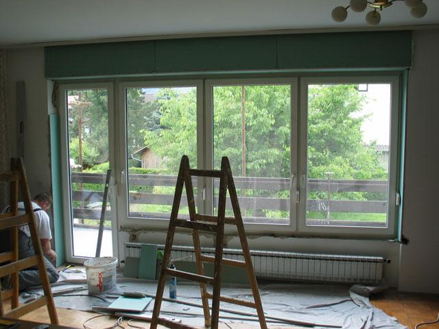 Vgradnja novih oken in balkonskih vrat