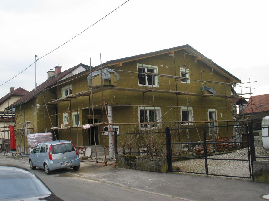 Izdelana toplotna izolacija fasade