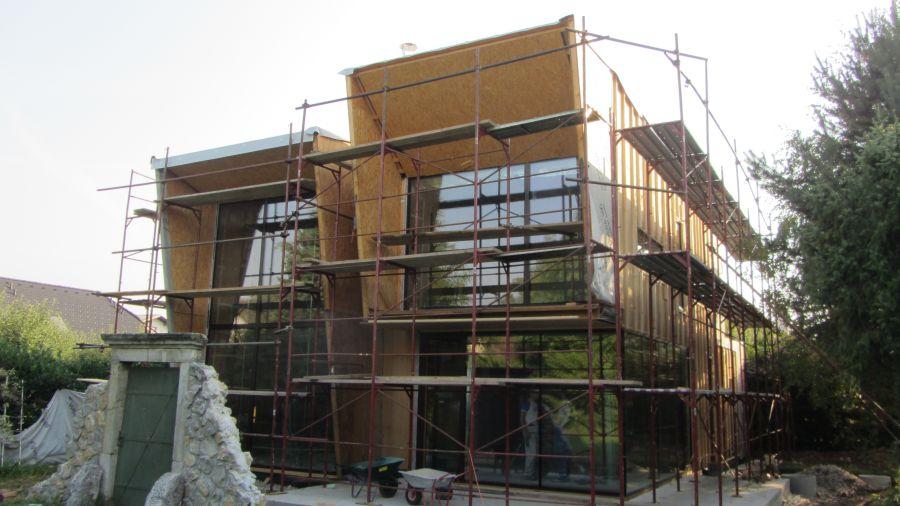 Izdelava lesene konstrukcije za fasado na Agepan THD fasadne plošče