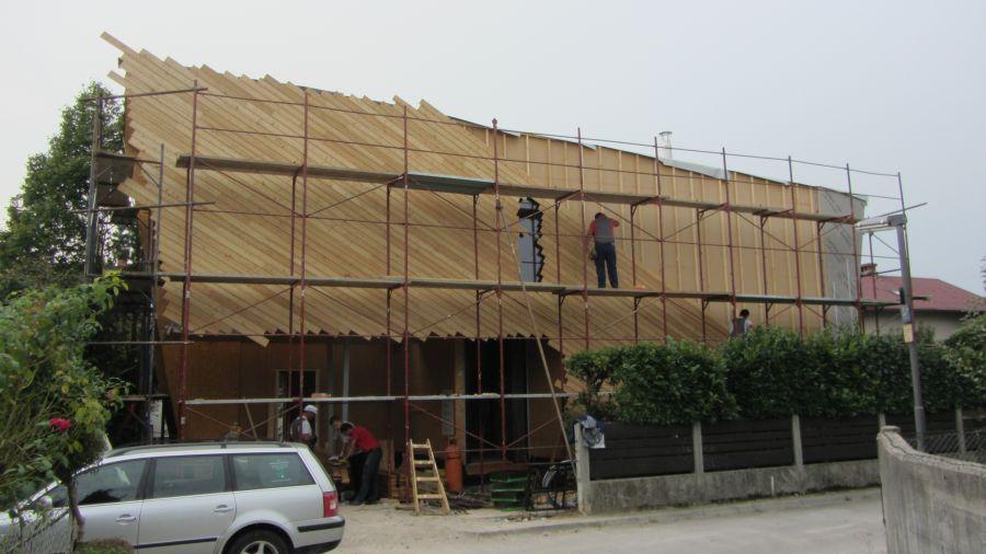 Izdelava fasade iz sibirskega macesna