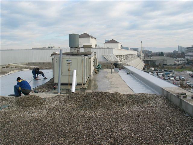 Sanacija ravne strehe s Sika folijo