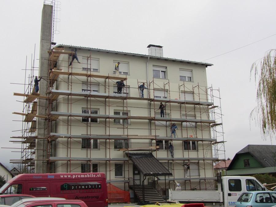 Izdelava zaključnega fasadnega sloja Caparol