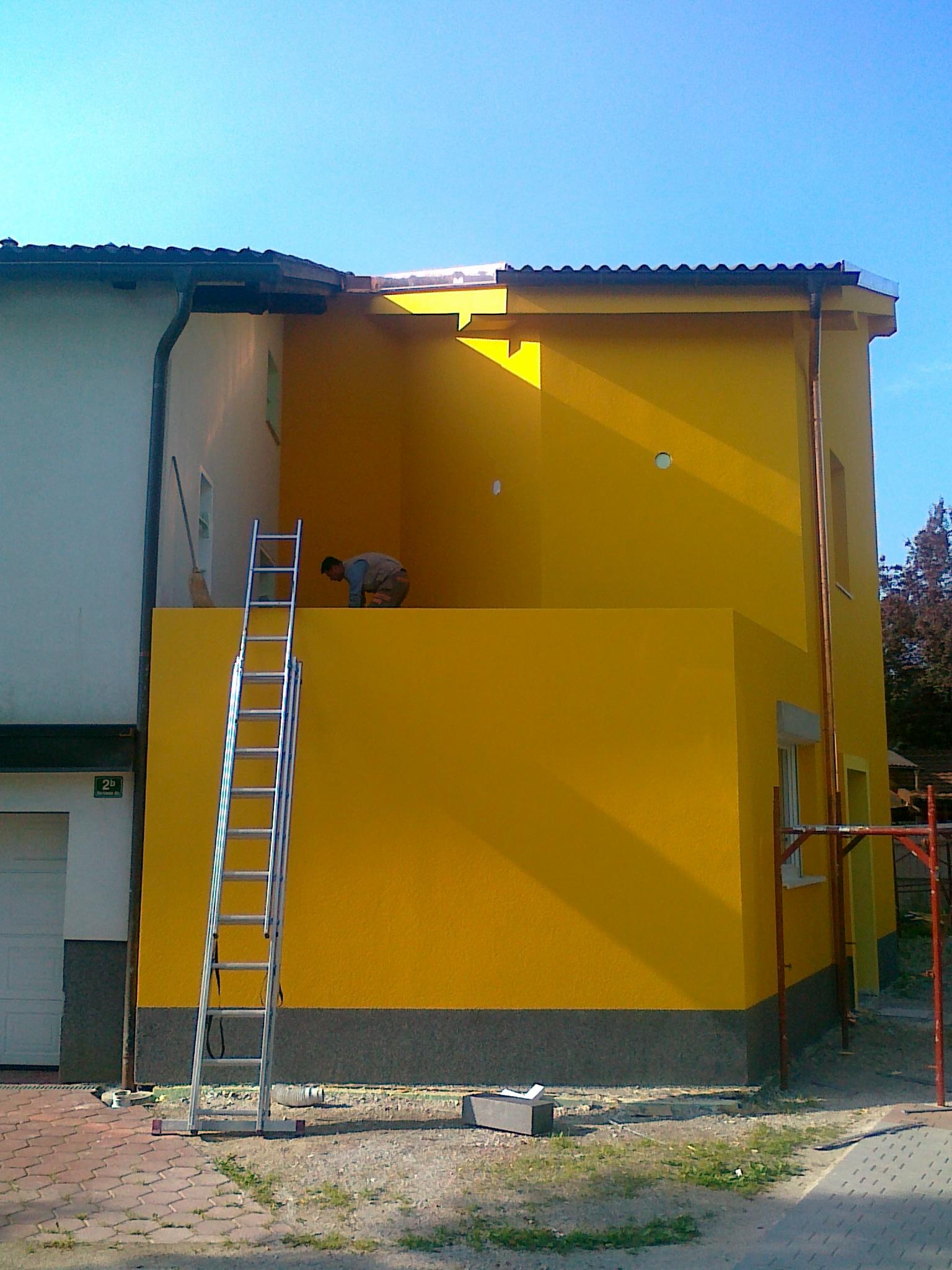 Izdelava toplotne izolacije fasade iz grafitnega stiroporja debeline 30cm - Caparol