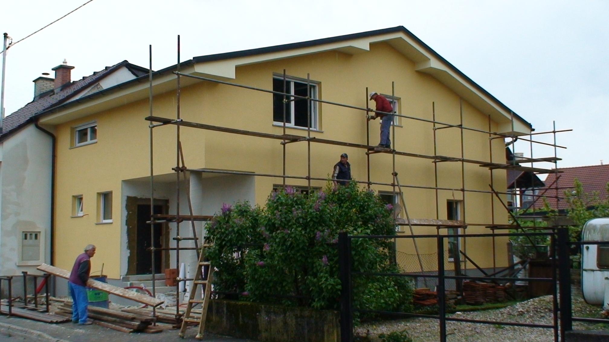 Izdelava fasade – pričetek del