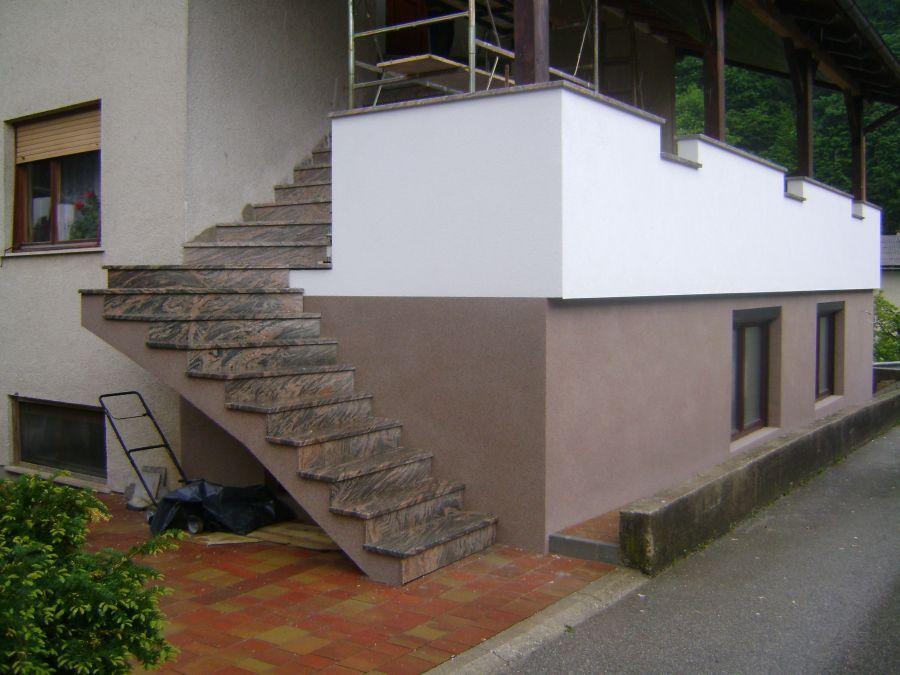Kamnita obloga zunanjega stopnišča